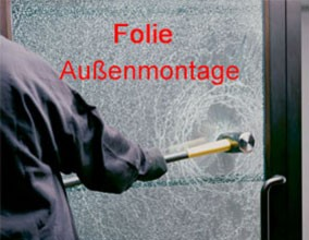 They are anti-shatter and security films applied from outside of glasses, windows and showcases.