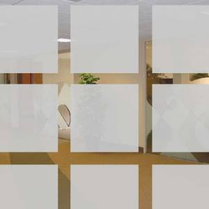 Milky-white window films – Matt Squares