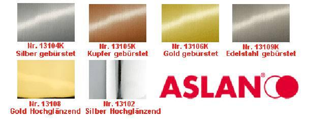 Metall-Effekt-Folien Premium CA23 glänzend und gebürstet