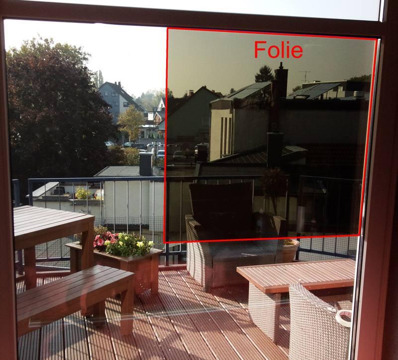 sonnenschutzfolien bronze 175 ex dunkel innenansicht 1. Black Bedroom Furniture Sets. Home Design Ideas