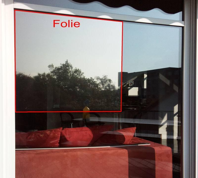 Spiegelfolie Fensterfolie Fenster Glas Sonnenschutz Sichtschutz Spionfolie