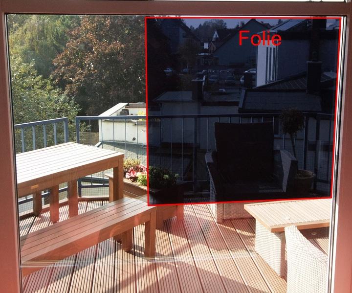 spionspiegelfolien sichtschutz sonnenschutz bild 3. Black Bedroom Furniture Sets. Home Design Ideas