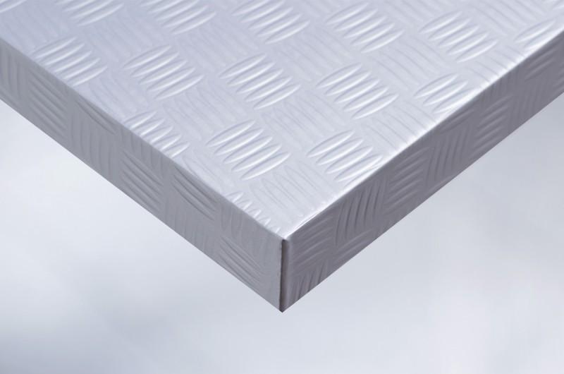 z8 folie f r m bel und wand metallic silberner riffelblech stahl. Black Bedroom Furniture Sets. Home Design Ideas