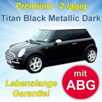 Autofolien Titan Black Metallic Dark