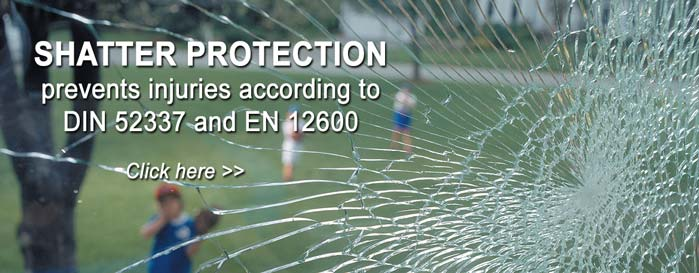 Anti-shatter films with protection against burglary